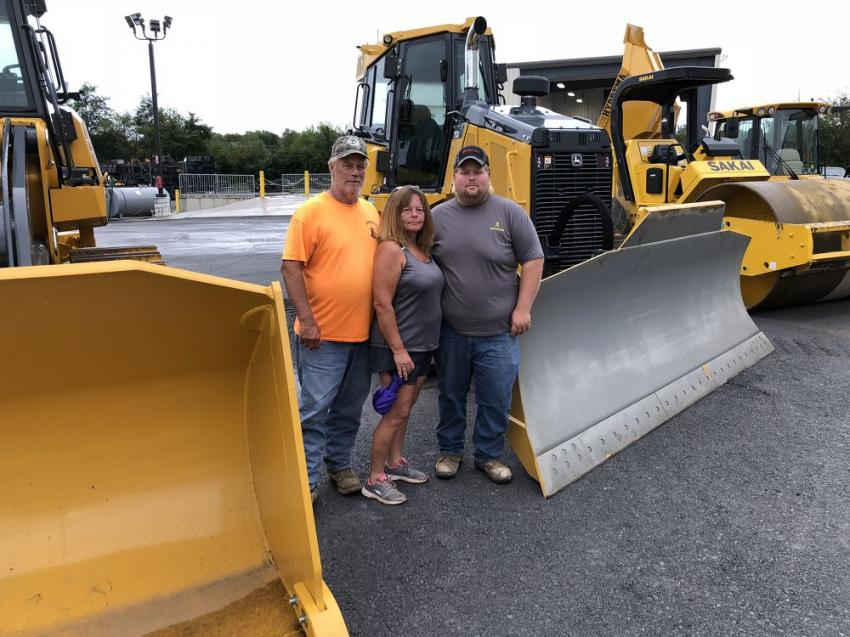(L-R): Ty, Alice and Eric Dovell of Dovell LLC check out James River Equipment's new facility in Winchester, Va.