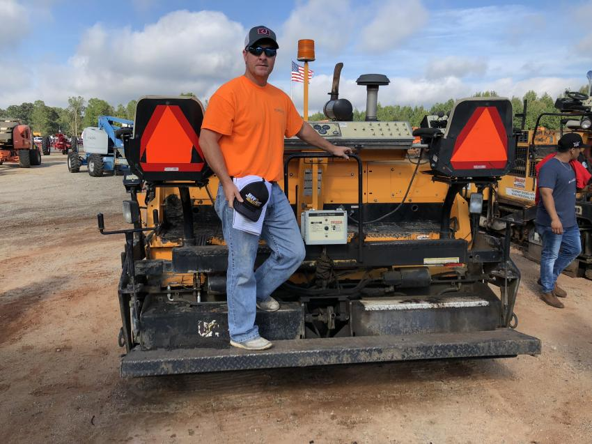 Branson Robinson came to the sale to bid on this LeeBoy 8515B paver and a John Deere dozer.
