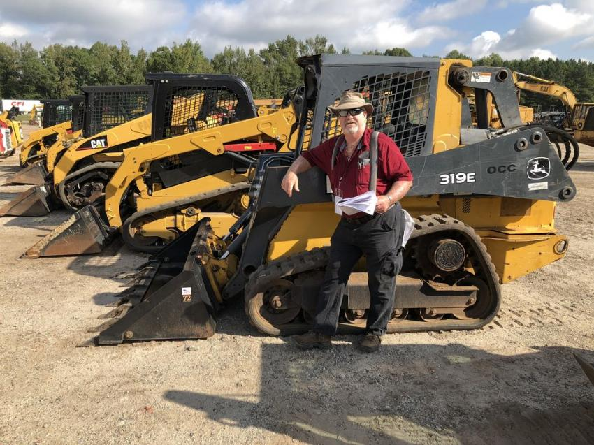 John Crowder of Carolina Construction Inc., in Rutherfordton, N.C., after looking over the selection of compact track loaders, planned to bid on this John Deere 319E.