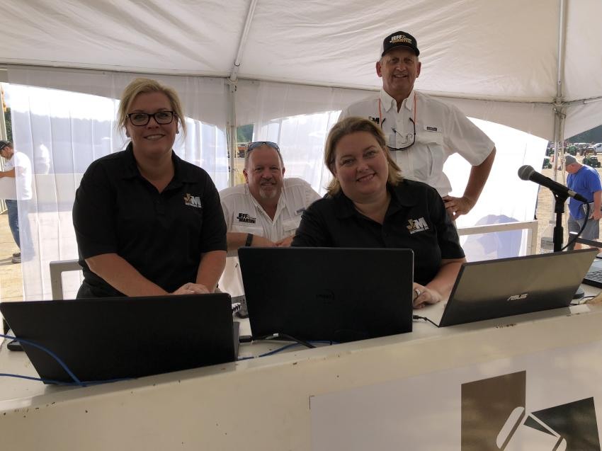 (L-R) are Jennifer Martin, Jeff and Kellie Martin, and Rodney Lee, all of Jeff Martin Auctioneers Inc.