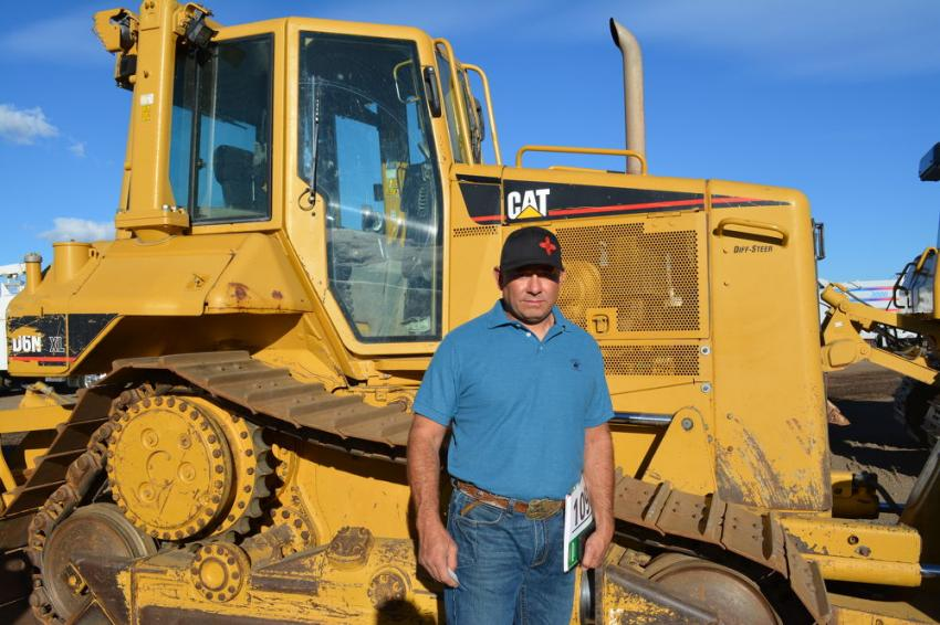 There were plenty of dozers up for sale in Denver. Amos Espinoza of Espinoza's Trucking was planning to bid on this Cat D6N.