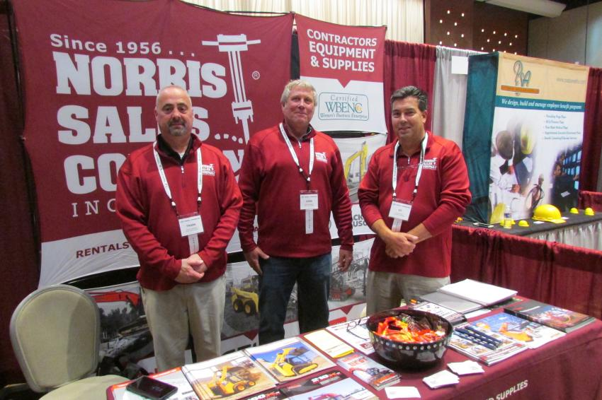 (L-R): Frank Kimberling, inside sales, Mark Dombrowski, sales specialist, and Ed Zoranski, sales representative, all of Norris Sales Company Inc.
