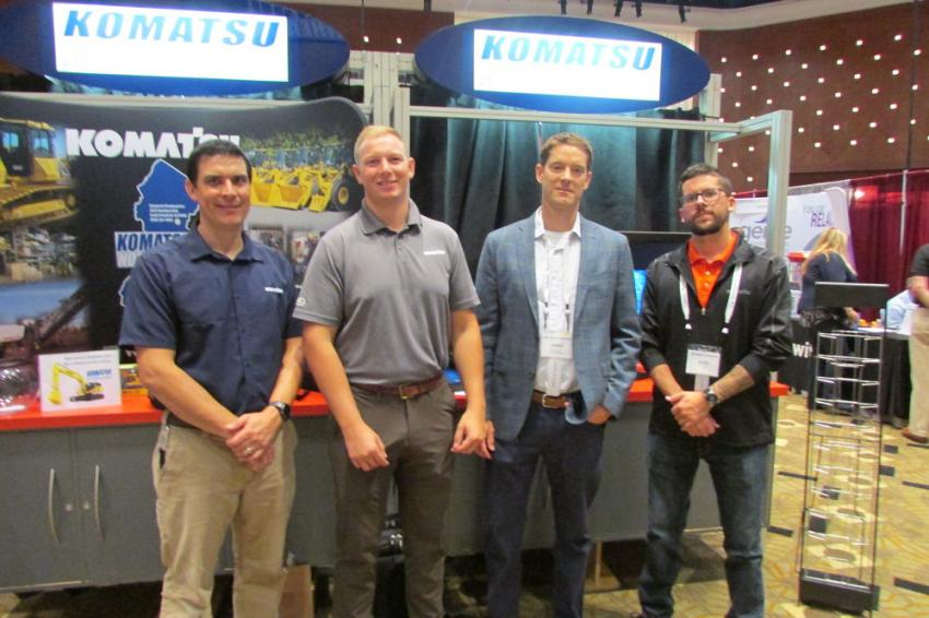 (L-R): Dave Eister, director of training; Scott Maxwell, account manager; Jared Nutter, account manager, and Kyle Floyd, technology solutions expert, all of Komatsu Northeast.