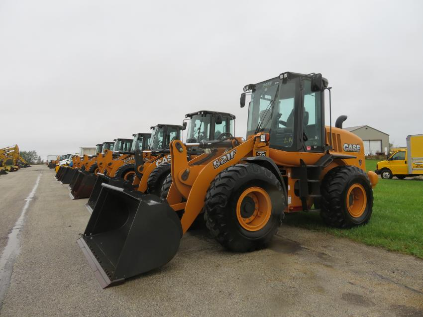 Auctiongoers had the opportunity to bid on late-model, low-hour wheel loaders.
