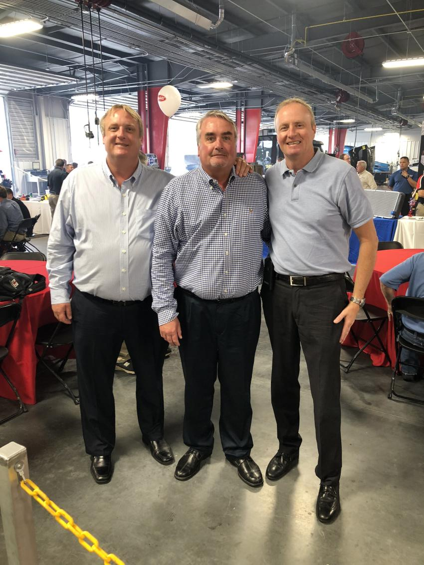 (L-R): Heading the Larson Group are Kory, Glenn and Kyle Larson, owners of the Charlotte Peterbilt location and 19 others. The trio has forged a reputation through dedicated service and flourished at their Peterbilt locations by building strong business relationships.