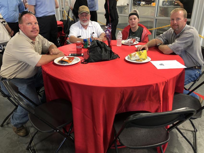(L-R) John and Tim Wayne, both of Tim Wayne Enterprises, Davidson, N.C., with Jordan Rogers and Jeremy Wayne of Carolina Seeding, Davidson.