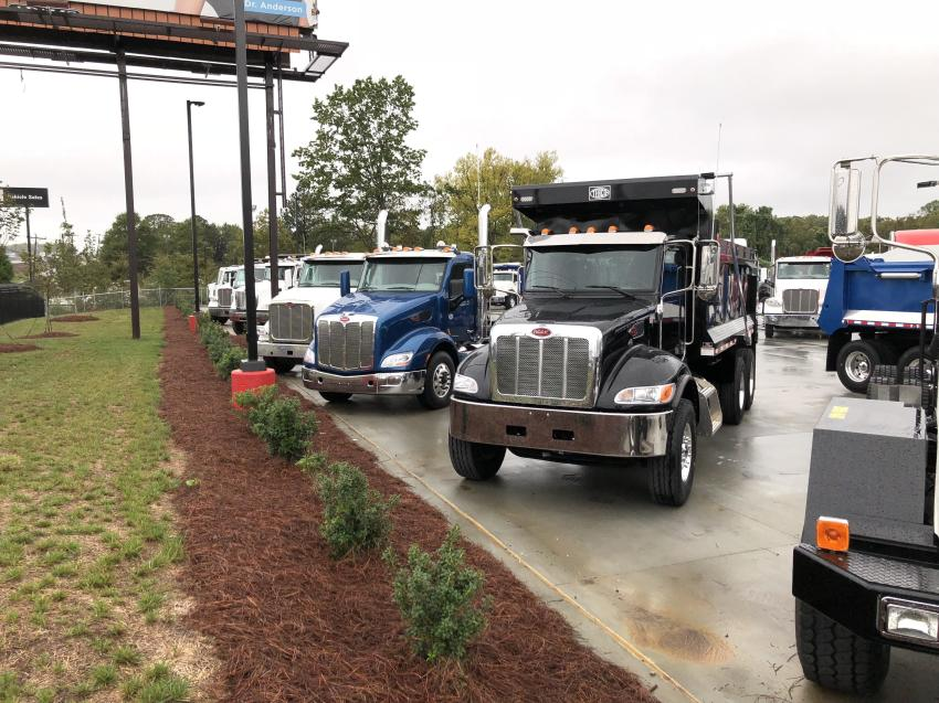 Ready for customers' needs are a variety trucks in different configurations.