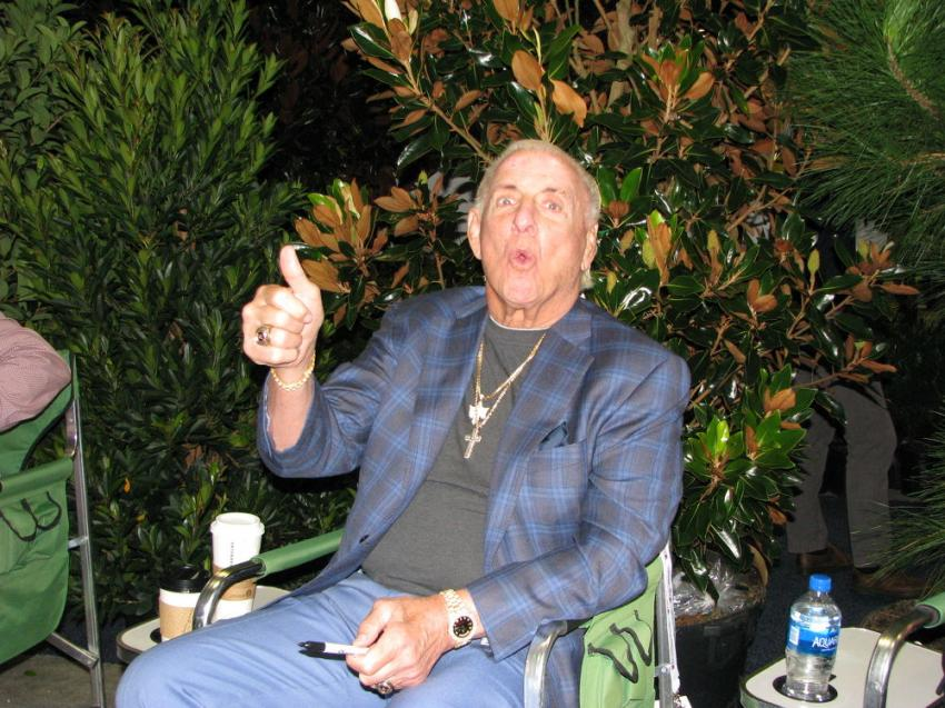 """The Nature Boy himself gave a big """"Woo to landscaping"""" from the Landscaper Trees & Shrubs display area."""