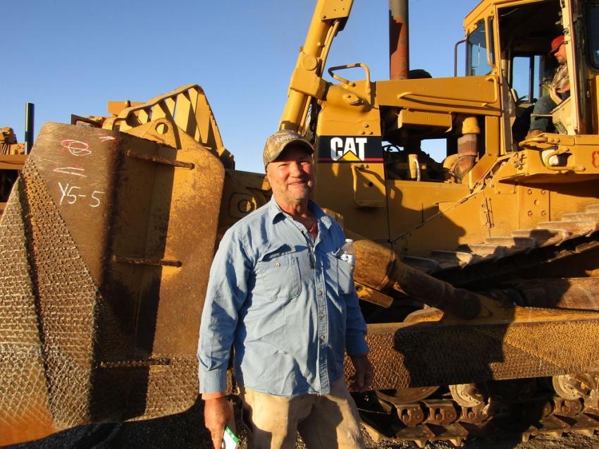 Steve Rogers of Globe, Ariz., came to browse and look for some unique finds and was immediately drawn to this 1994 Caterpillar D9N dozer.