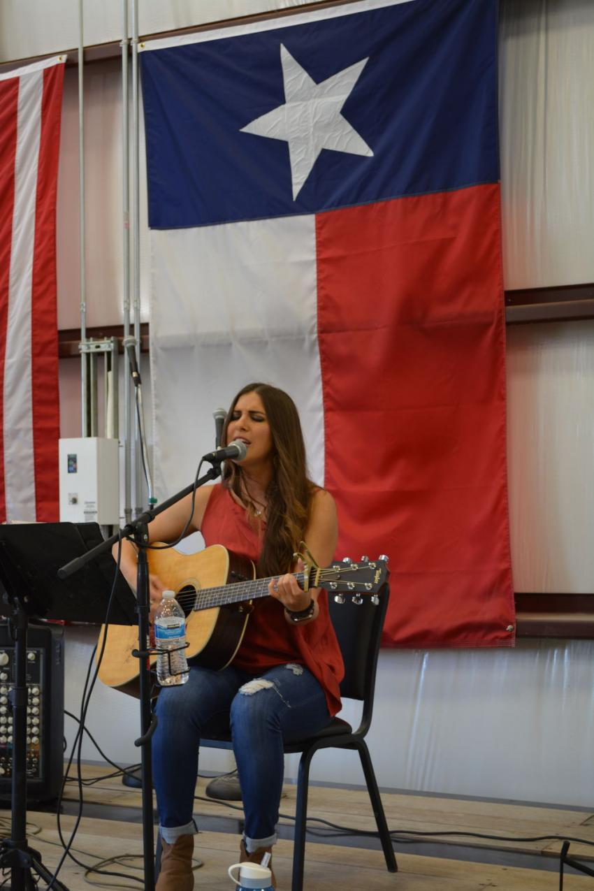 Cooper's customers and employees were entertained by Jade Marie Patek, a nominee for Texas Regional Radio Music Award's New Female Vocalist of the Year, and later by the Bret Mullins Band.