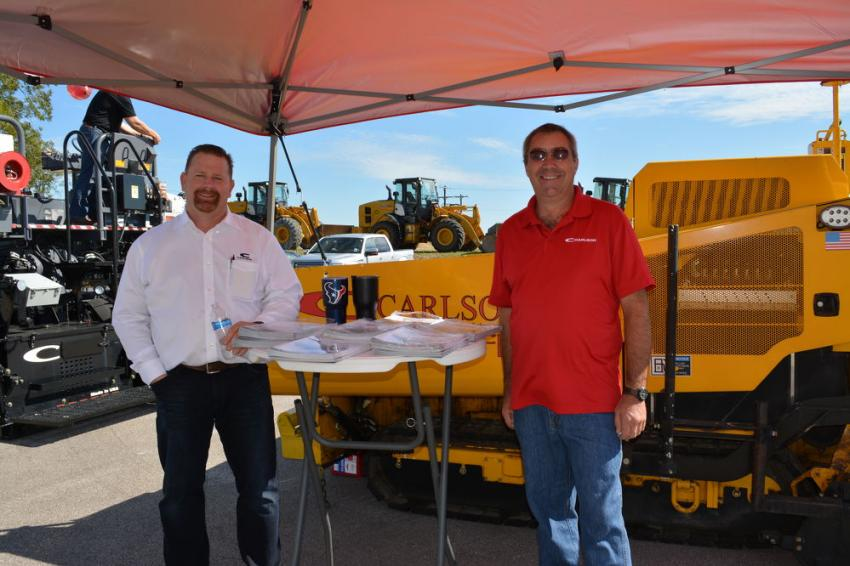 Carlson Paving was represented by Paul Bales (L), south central regional manager, and Glenn Wittner, product support technician.