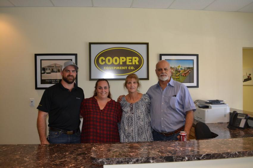 (L-R): The Cooper family and management team Matt, district manager; Megan, company secretary; their Mom, Jerri; and George Cooper, president. Not pictured is Fred Jose, vice president.