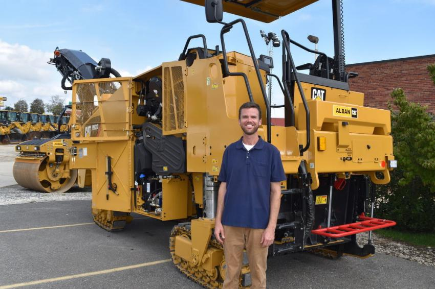 Mike Veirs, vice president of AB Veirs & Son Paving, Gaithersburg, Md., was interested in this Caterpillar PM312 milling machine.