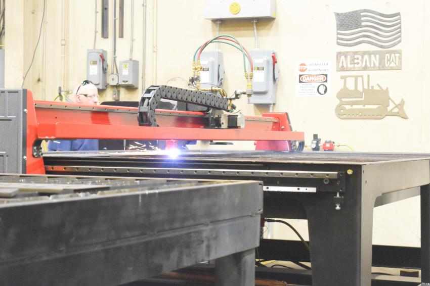 Alban CAT proudly touted its new state-of-the-art CNC plasma cutting table for attendees of the Cat-A-Thon on Oct. 9.