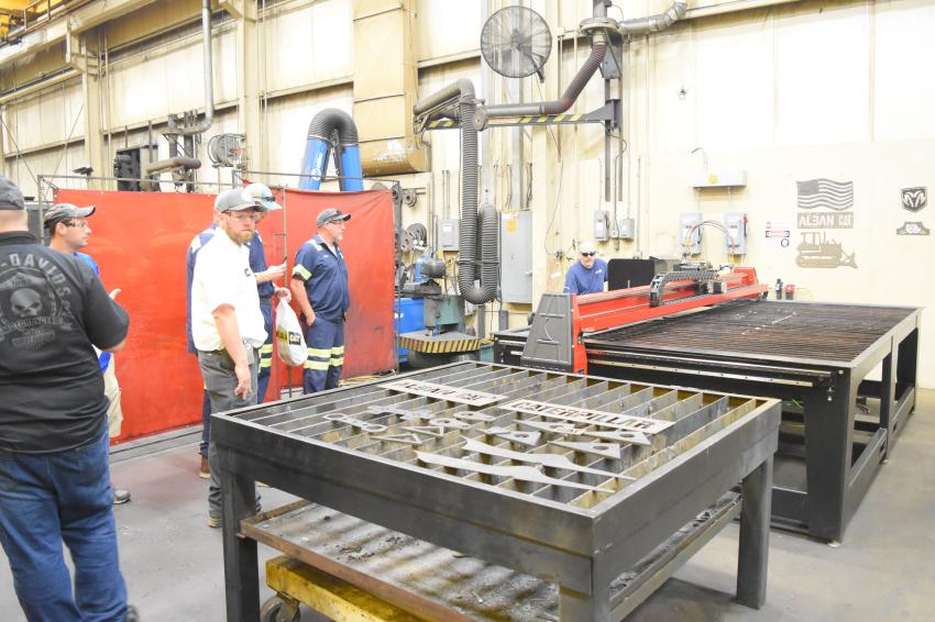 Cat-A-Thon guests toured Alban CAT's newly refurbished Reman facility. So far, the company has invested $3 million with more renovations scheduled in 2019.