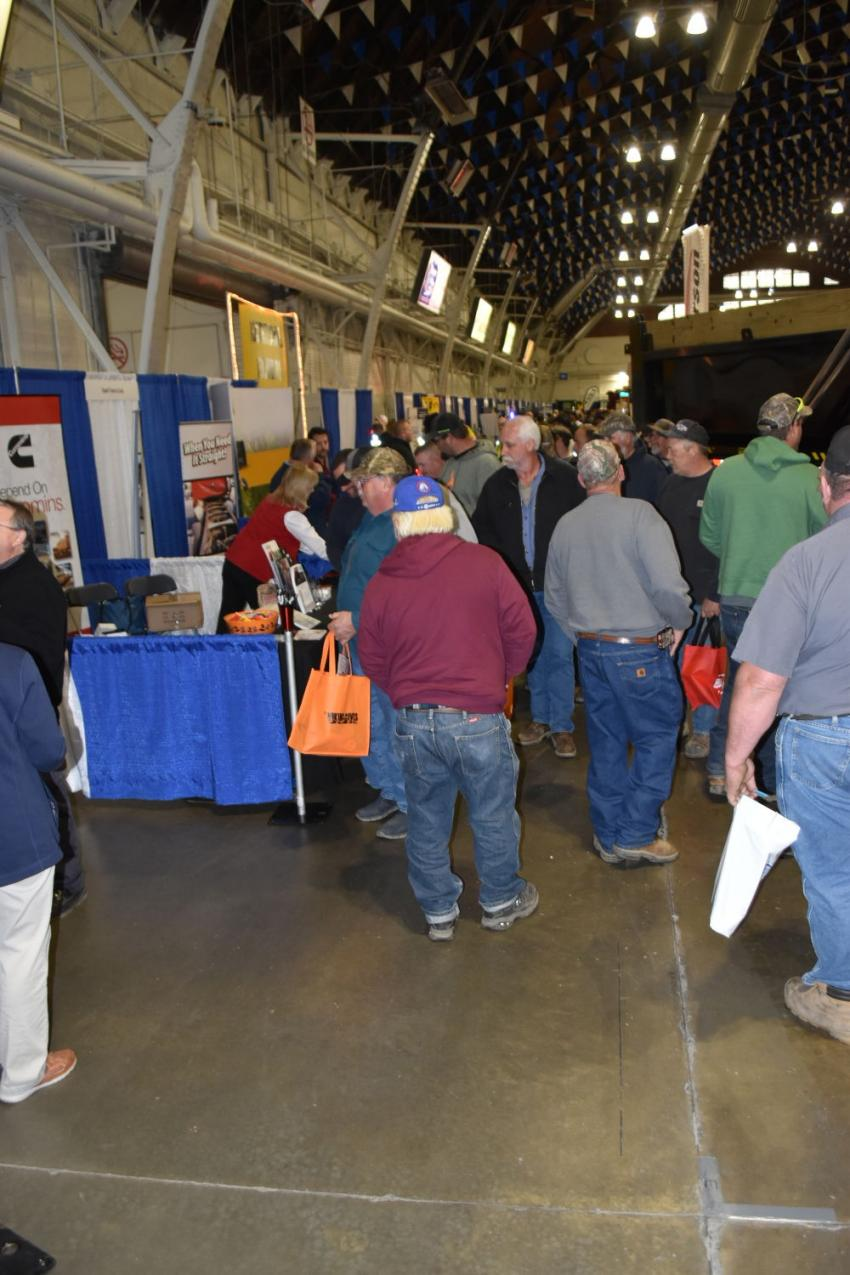 There was a large crowd at the Center of Progress building. Next year, the show will be held at the all new Fairgrounds Expo Center.