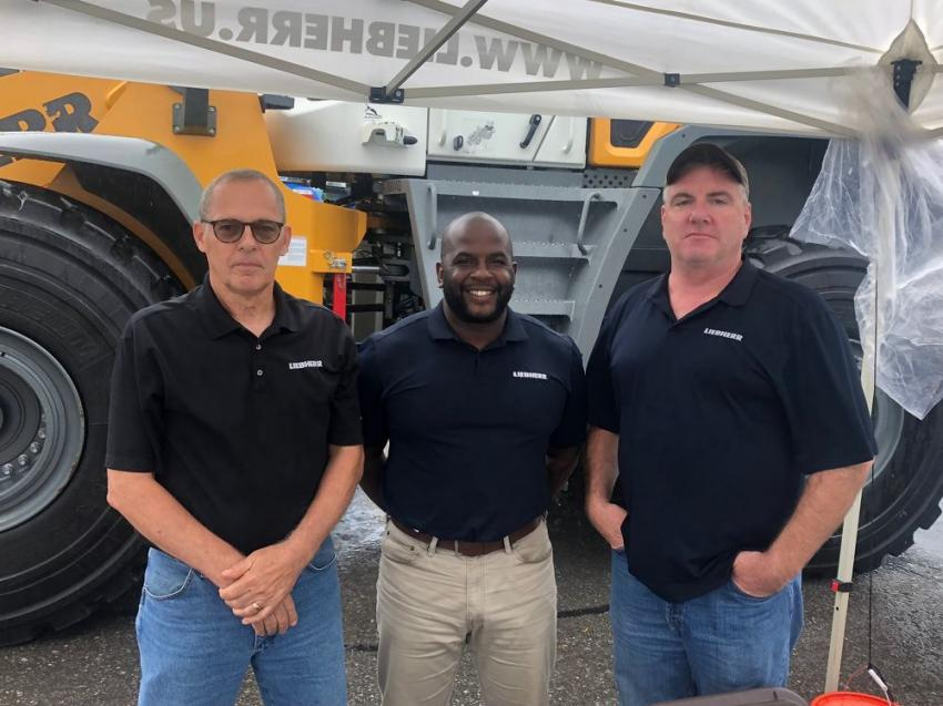 Factory representatives from Hyundai answered any questions and arranged financing for interested buyers. (L-R): Cam Cunningham, Marcus Barns and Kevin Murphy.