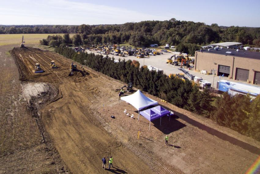 Aerial view of JESCO's demo field.