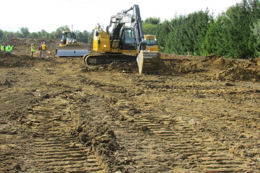 Guests were able to demo a John Deere 235G excavator with a Topcon X53i system during the event.