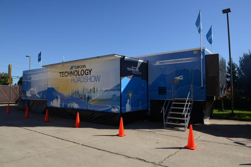 The Topcon Technology Roadshow traveling truck visited JESCO in Lumberton, N.J., on Oct. 16 and 17.