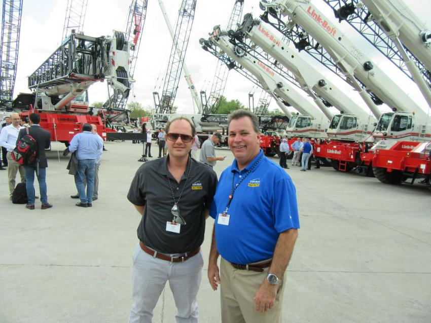 Chris Kelly (L) and Bruce Budd of Kelly Tractor Company enjoyed the event.