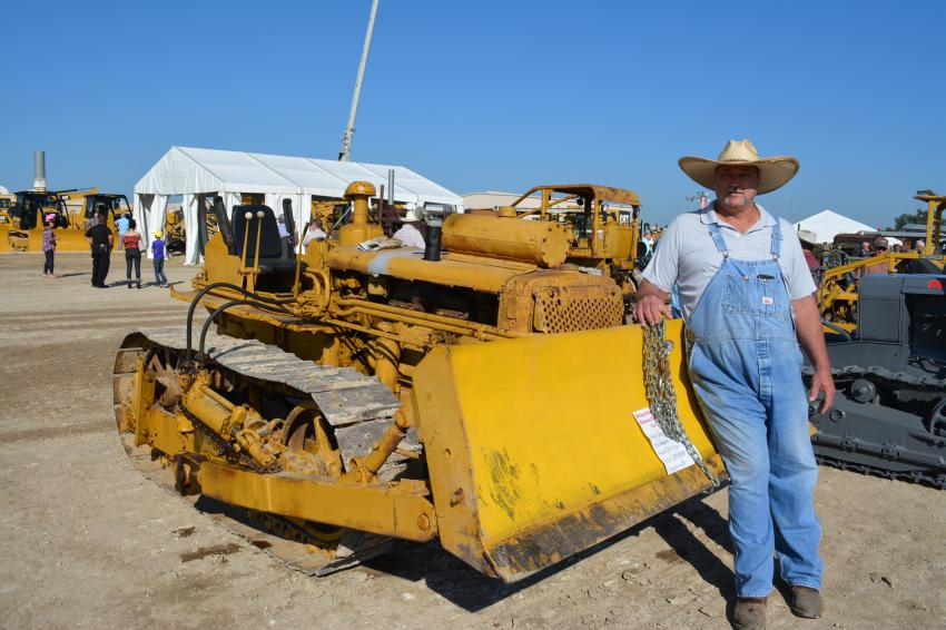 Vance Nickerson of Gladewater, Texas, displays his 1950 Caterpillar D47U.