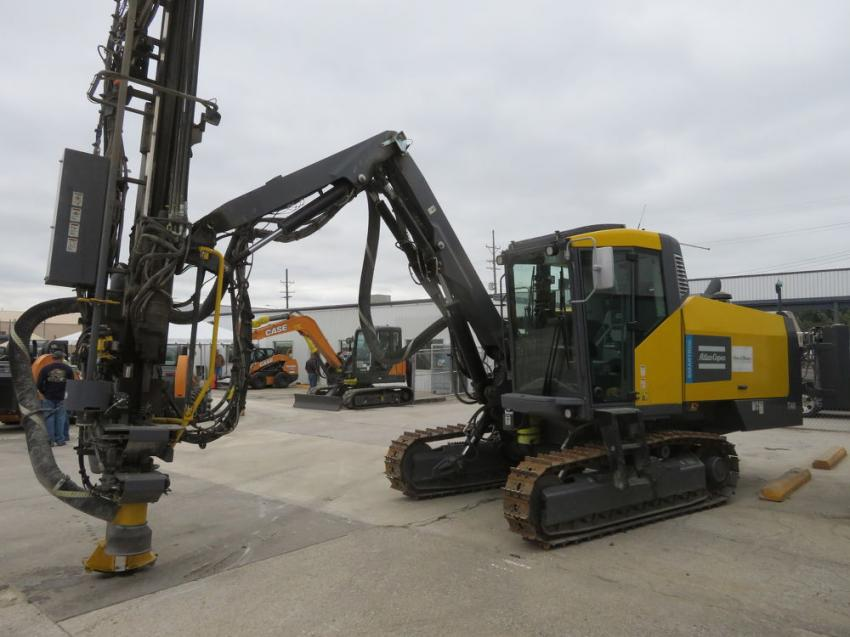 Customers could check out the  Atlas Copco Smartroc T40 drill rig.