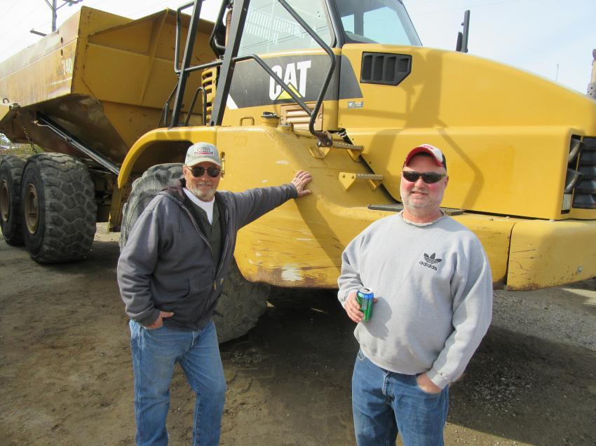 Mark Lehman (L) and Robert Kuchinski of Gibraltar Construction Company were on hand to take in the auction activities.