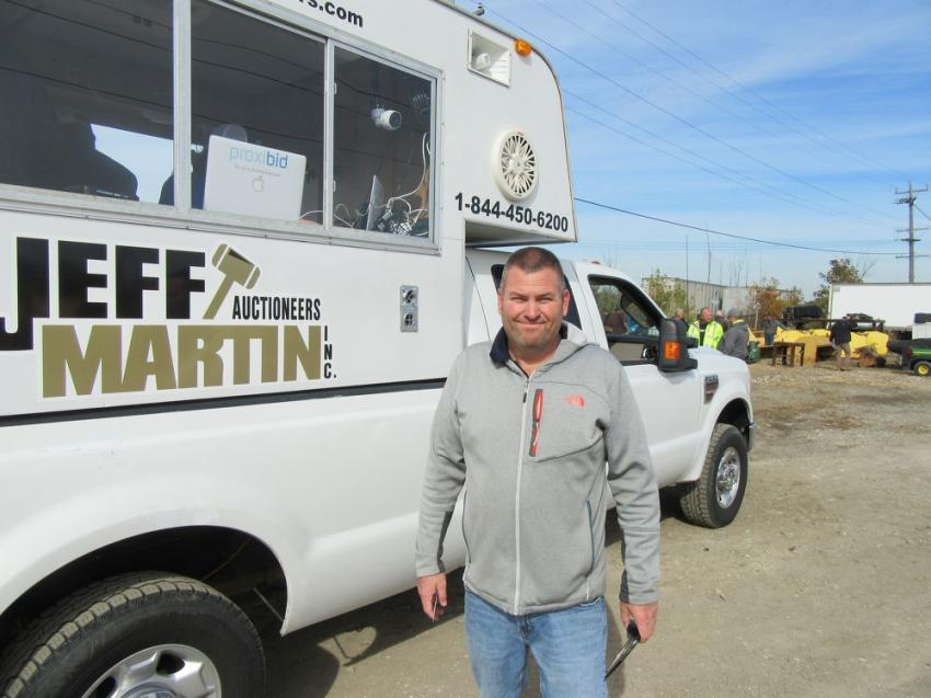 Eric Raupp of Raupp Brothers Garden Center was looking for landscaping equipment at the auction.