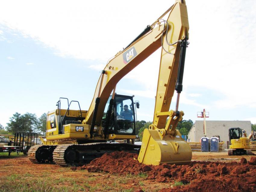 As the featured machine, a pair of next-generation Cat 320 excavators got quite a workout throughout the day.