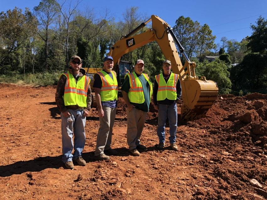 (L-R) are Dillon McMahon, Kenneth Greene, Mike Suttles and Mike Woody, all of Suttles Grading in McDowell County, N.C.