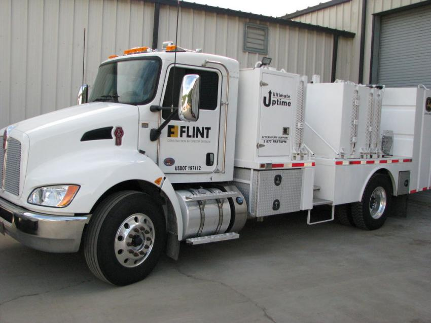 One of Flint's Ultimate Uptime fleet trucks was on display at the event.