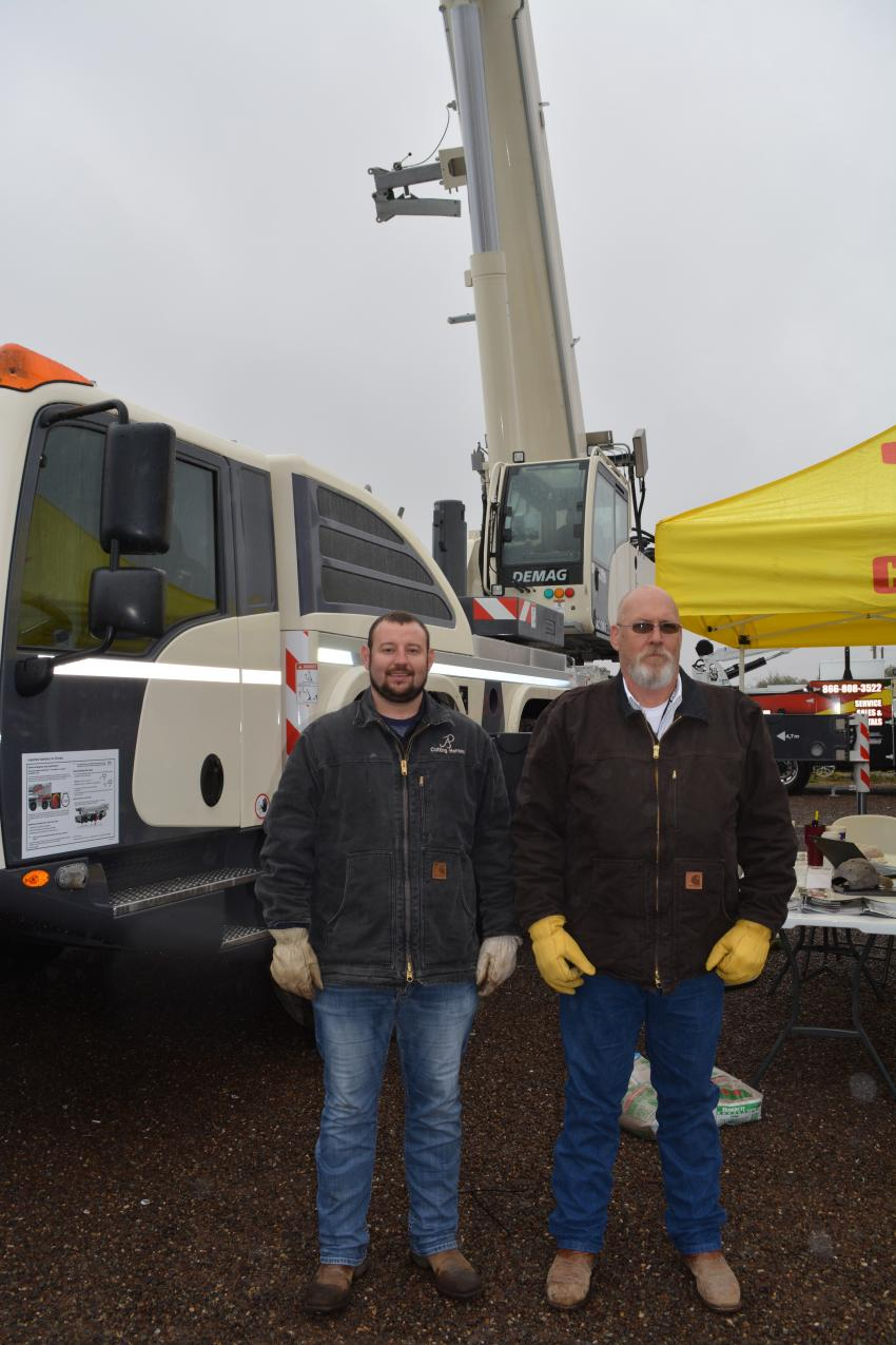 CraneWorks, of Houston, Texas, brought its line of lifting solutions to display at PBIOS. Kyle Cooper (L) and Charles Norwood manned the booth for the company which sells Terex and Demag cranes as well as a full line of complementary equipment for use in the oilfield.