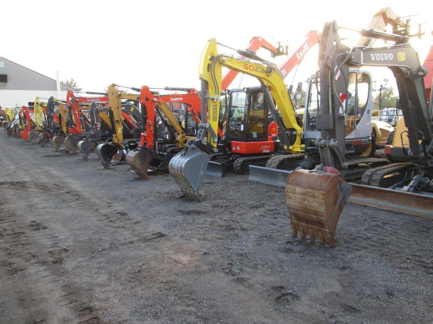 An impressive lineup of excavators went on the auction block.