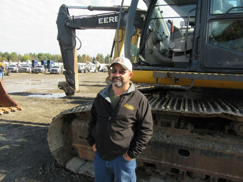 Charlie Cochran of Cogar Right-of-Way Clearing came from Webster Springs, W.Va. to take in the auction.