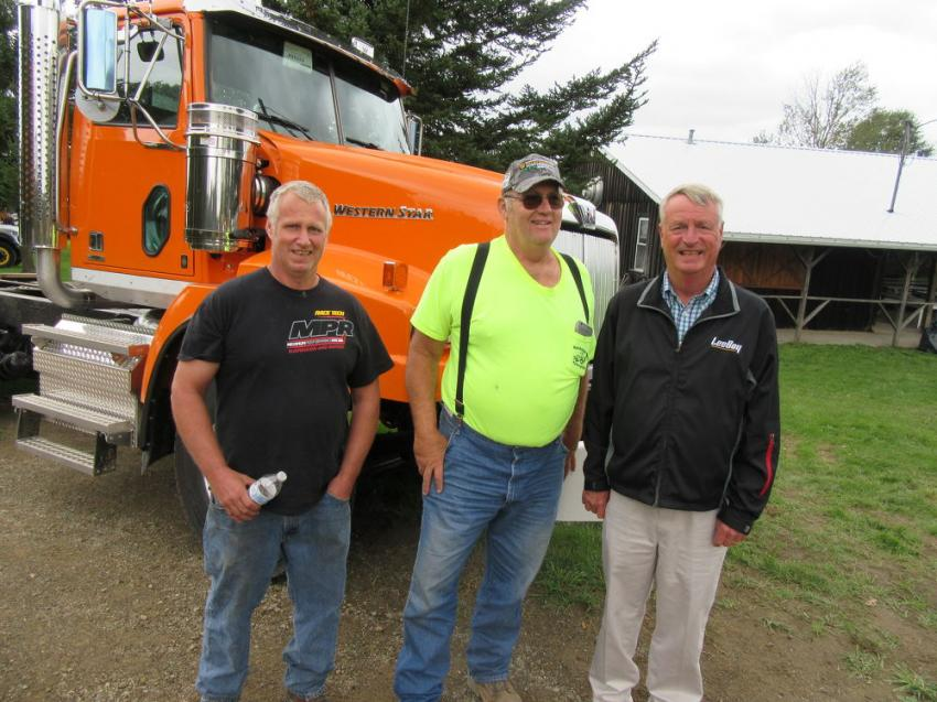 Mike Walsh (R) was glad to catch up with long-time customers.