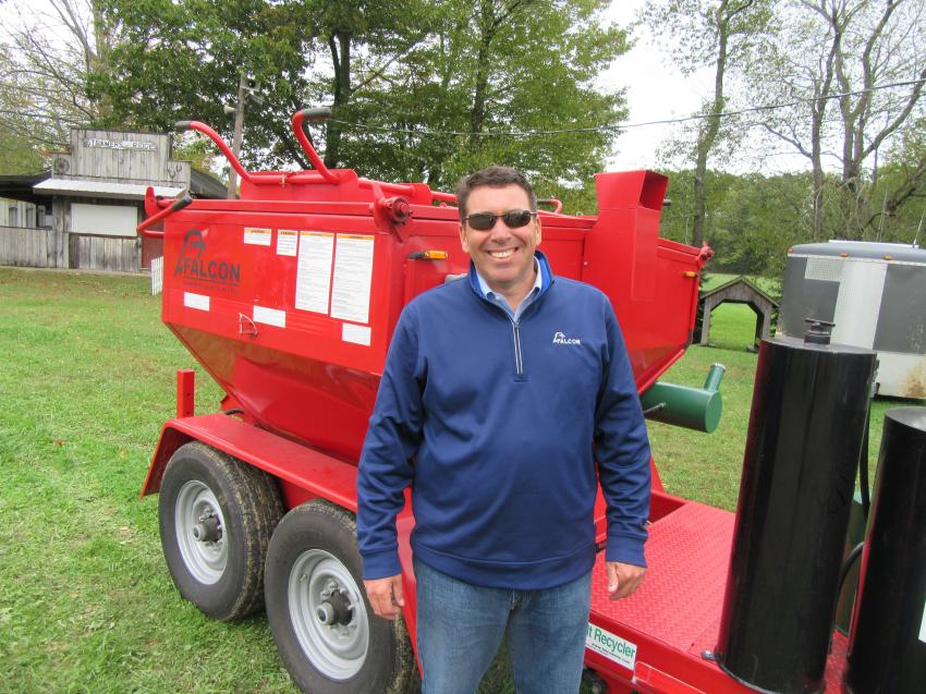 Brian Thornton was on hand to discuss Falcon asphalt repair equipment, a recent addition to Stephenson Equipment's line-up.