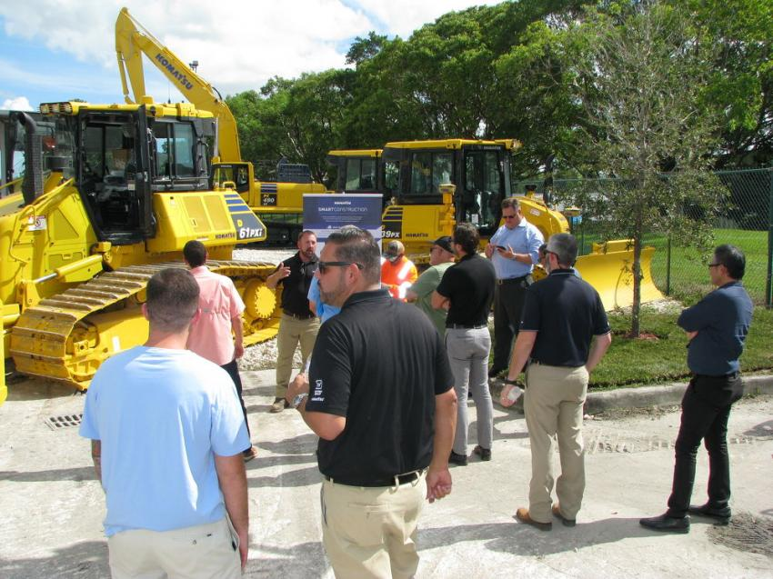 A great crowd came out to see a wide array of Komatsu machines and learn more about the latest machine technology offered by Komatsu at Linder's Miami open house.
