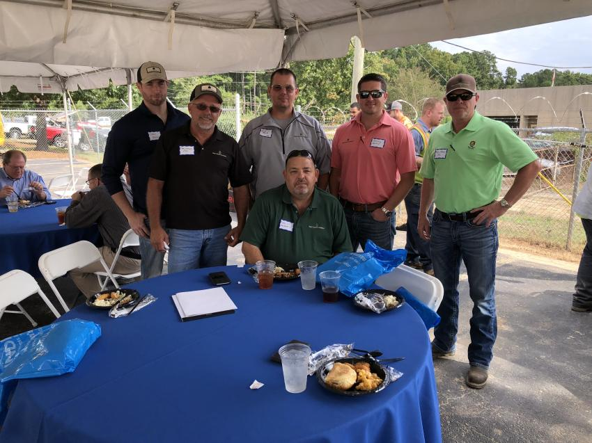 Representing the Fred Smith Company (L-R) are Chris Leonard, Joey Lovejoy, Hannable McGarity, David Lee, Jeremy Helms and Ricky Holloman.