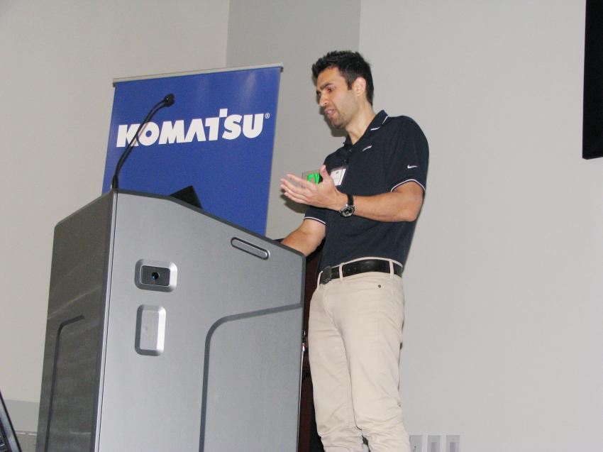 Komatsu's Rizwan Mirza provides an in-depth presentation of MyKomatsu, the Komatsu machine management system for providing customers with better access to data on their machines.