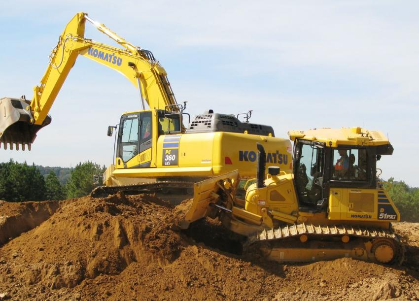 The Komatsu excavators and dozers with Intelligent Machine Control integrated grade-control technology were among the favorite machines to test-operate.