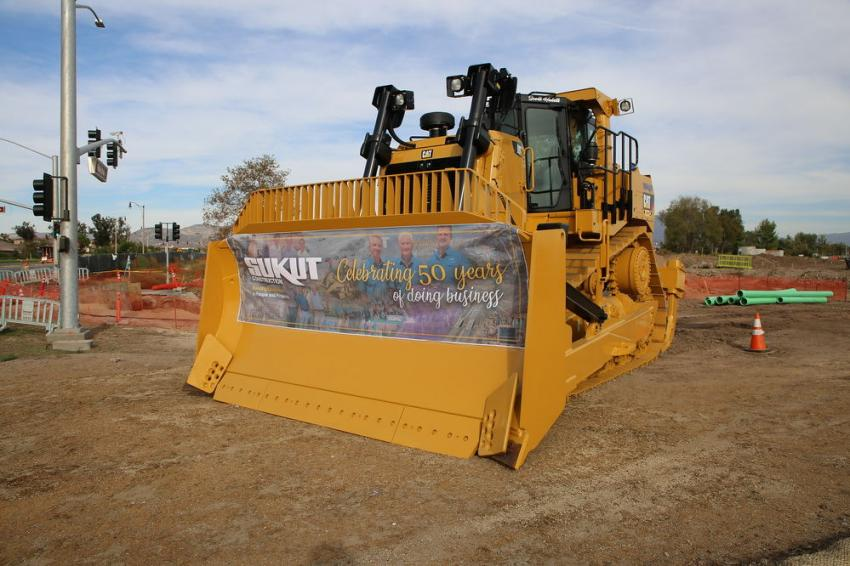 Sukut's new Cat D9T Tier IV Final was on site for the celebration. The machine will be transferred to Sukut's Trampas Canyon Dam and Reservoir project.