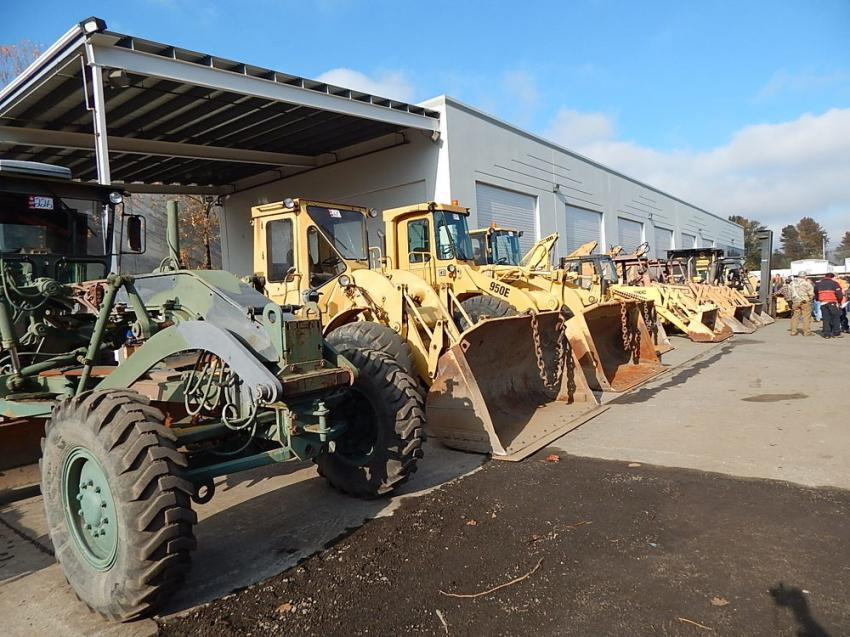 Cat 950E wheel loaders are up for sale at James G. Murphy's November sale.