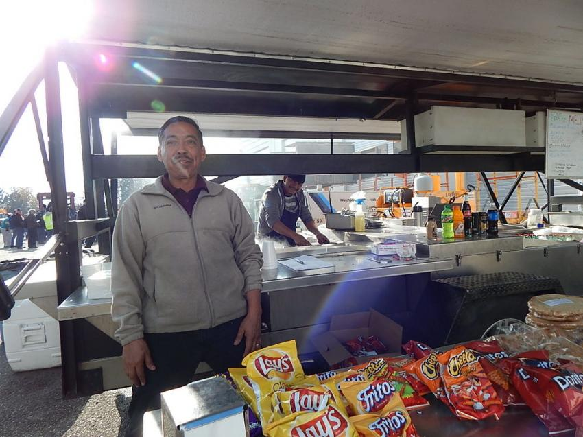 Good food was on site from family-owned La Esperanza Catering, Stayton, Ore. Site manager Armando Perez, with his grill master, Antonio DeLacruz, put out some great eats.