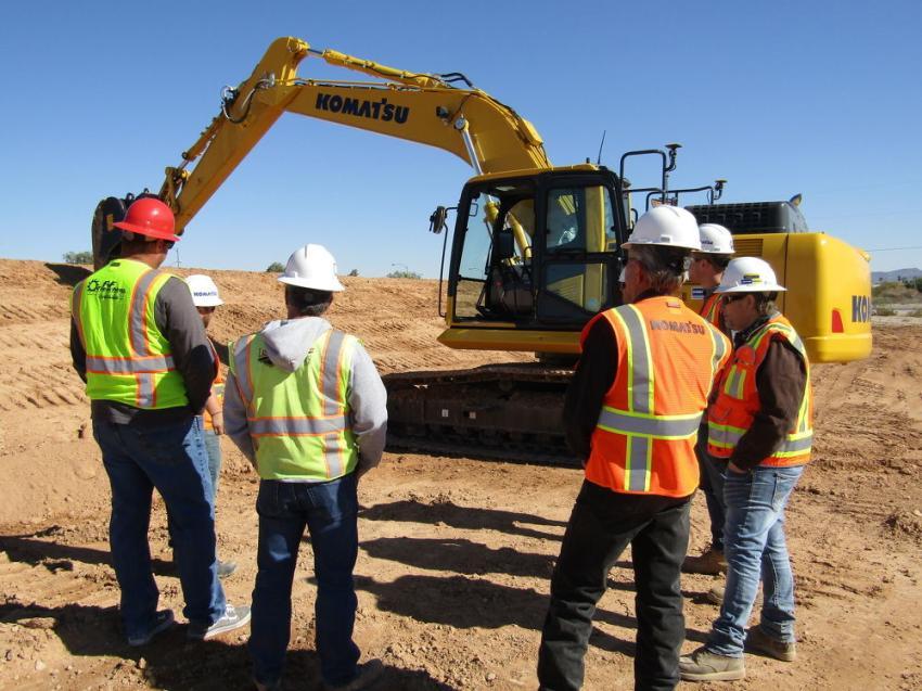 Komatsu trainers explain the technology behind this integrated Komatsu excavator.