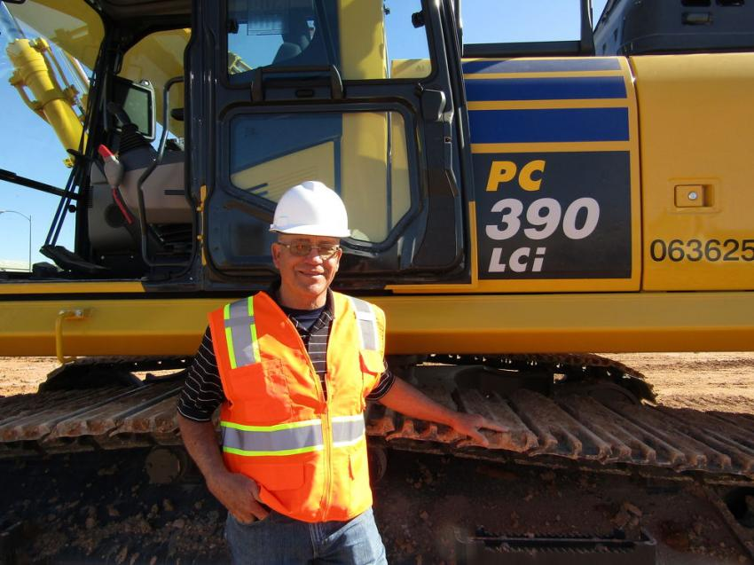 Even though Steve Cox has retired from his contracting business in Wyoming, he still enjoys staying up-to-date on the latest technological advancements. Cox came to refine his skills on this integrated Komatsu PC390LCI excavator.
