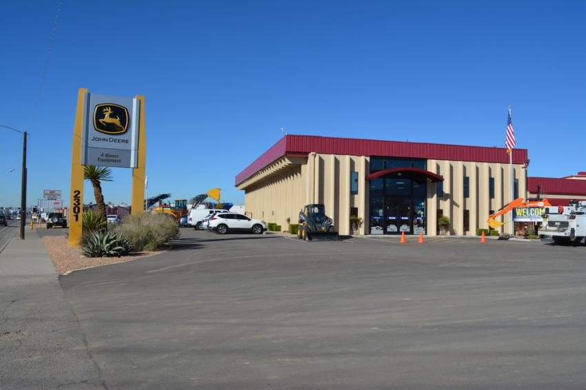 The newly-remodeled Albuquerque branch of 4Rivers Equipment.