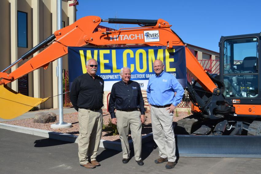 John Snider, Keith Olson, John Shearer and a Hitachi ZX60 excavator welcomed visitors to the open house.