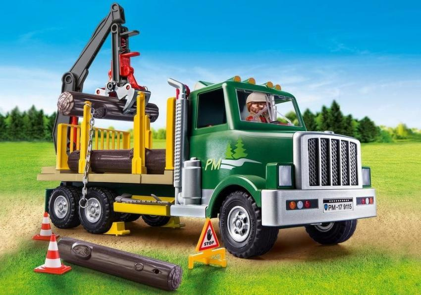 Calling all aspiring forestry workers! Get some practice in lifting logs into place with the special crane attachment in this interactive Playmobil Timber Truck set. Pieces include a truck with attached crane, one figure, logs and multiple accessories, all for $24.99. https://bit.ly/2Dk5lO4