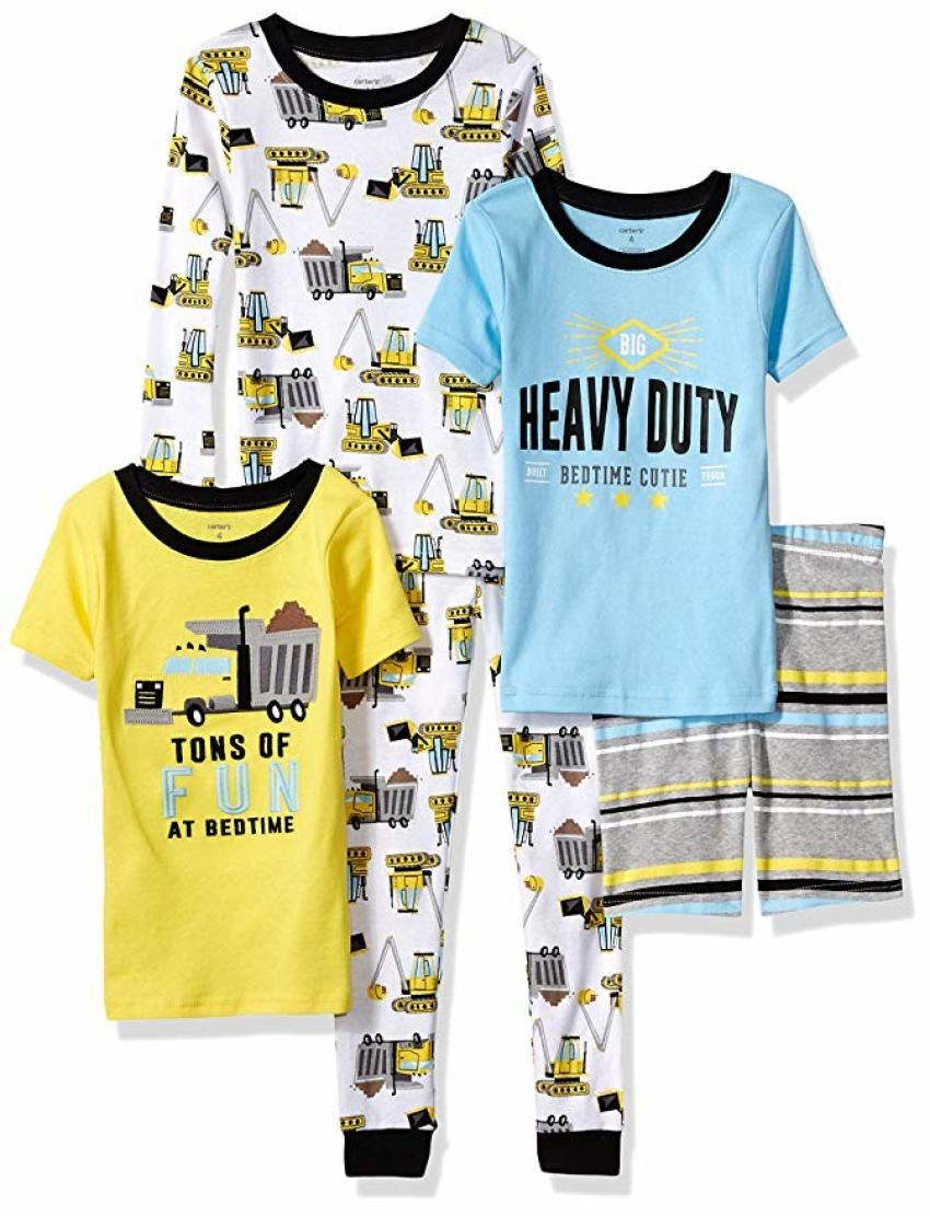 Aspiring equipment operators will be dreaming of earthmoving in these pajamas. The 100 percent cotton, five-piece set from Carter's features dump trucks, excavators and dozers and comes in a range of sizes from 6 months to 5T. $19.79 to $24.99. https://amzn.to/2qMQiop